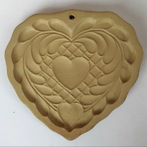 1980's Brown Bag Cookie Art Stoneware Cookie Mold
